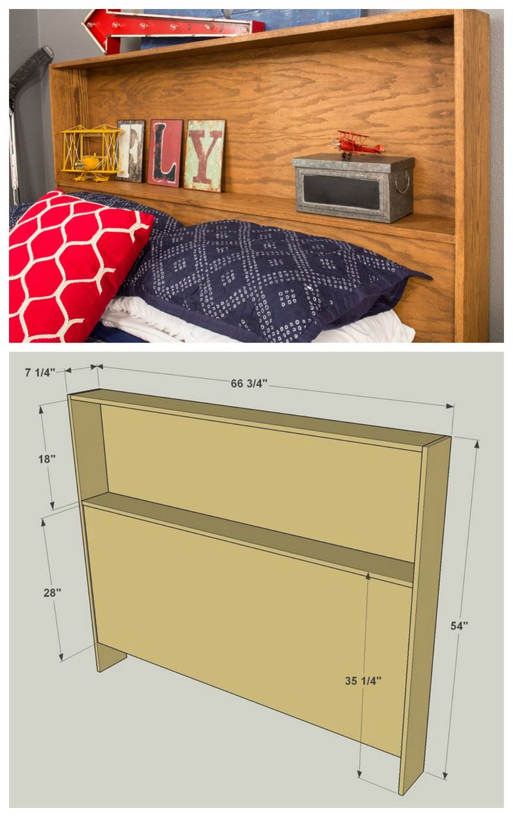 how to build a headboard with shelves