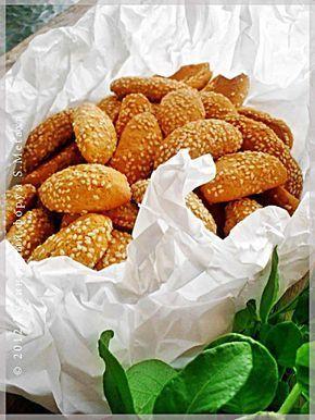 Медовое печенье с кунжутом