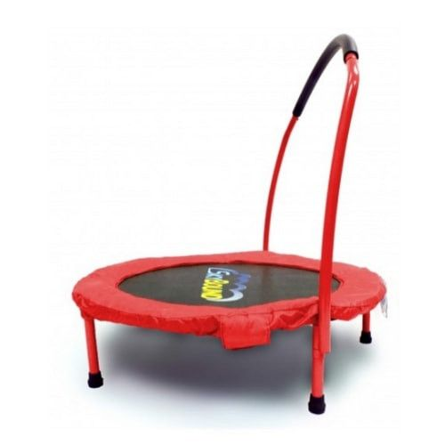 SkyBound 3FT Mini Trampoline Rebounder for Toddlers with Handle Bar