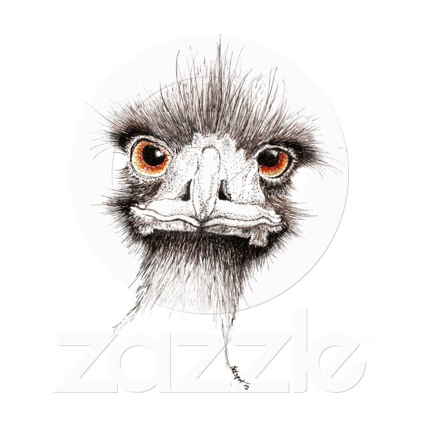 Emu by Inkspot an original illustration in pen and ink.