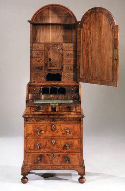 english 18th century queen anne period walnut bureau bookcase apter fredericks antique memorable pieces antique english country armoire circa 1830s