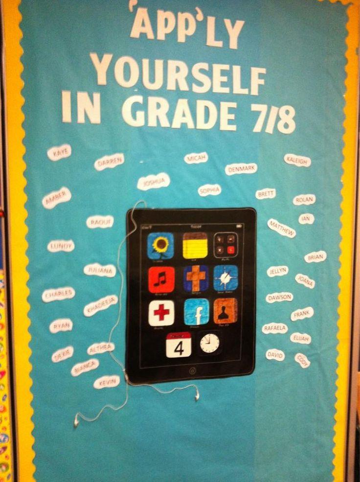 Classroom Ipad Ideas ~ Best technology bulletin boards ideas on pinterest