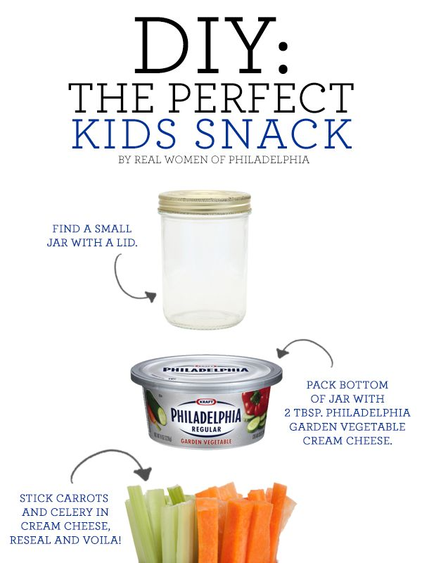 The ultimate DIY snack for kids: Pack a small jar with vegetable sticks and Philadelphia Garden Vegetable Cream Cheese #yum #snack