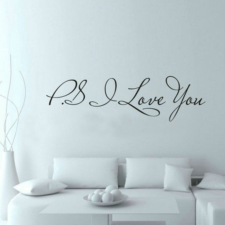 ps i love you wall quote sticker sayings