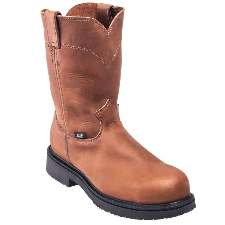 Justin Boots Men's 4795 Double Comfort Brown EH Steel Toe Cowboy Boots