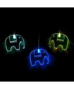 With fun acrylic shapes, these LED lights softly cycle through a spectrum of colours providing a soothing and gently stimulating light for the little ones. These battery operated lights can be hung anywhere. Elephant Mobile LED - Full colour cycle Code: MOEL RRP $39.95