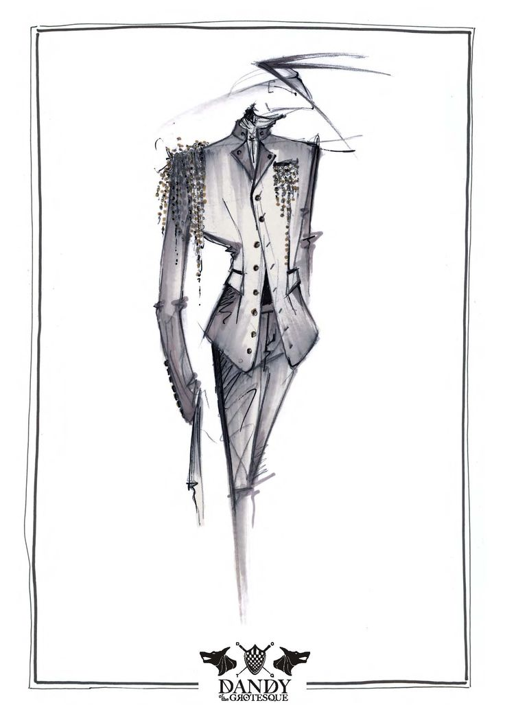 illustration for Dandy of the Grotesque menswear collection