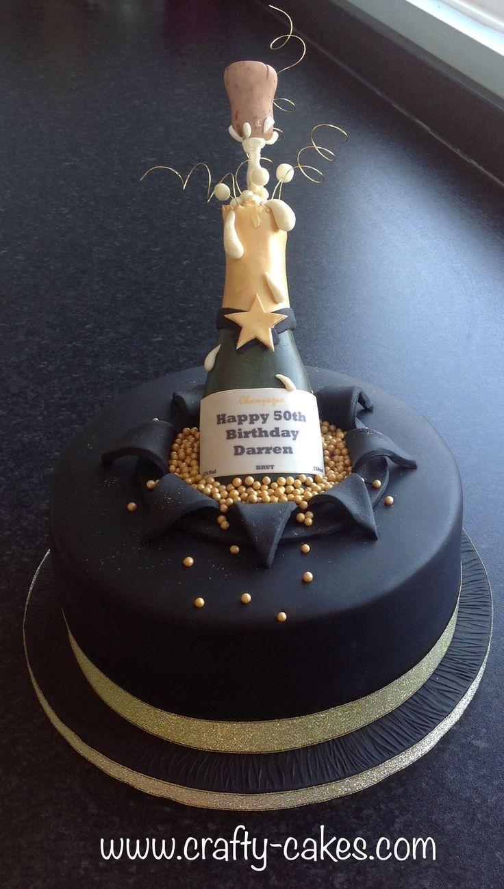 50th Champagne Birthday Cake Champagne Birthday Cake Geburtstagstorte 50th Birthday Special Birthday Cakes 60th Birthday Cakes 40th Birthday Cakes