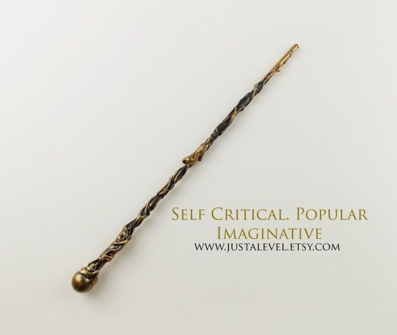 Infinity Gauntlet Wand Personality Based Molten Gold And Black Wands Harry Potter Wand Wizard Wand