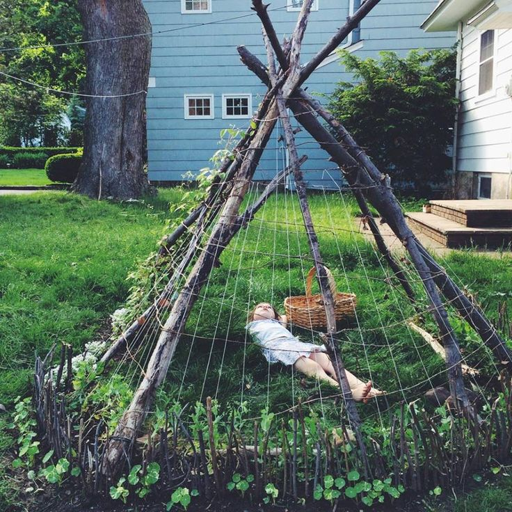 green bean tipi : kirsten rickert : backyard garden
