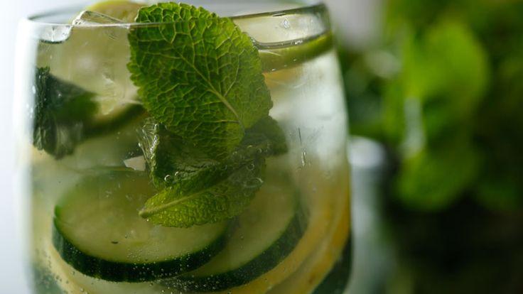Kara Vogt's Cucumber Lemon-Lime Mint Spritzer from Rachael Ray Show
