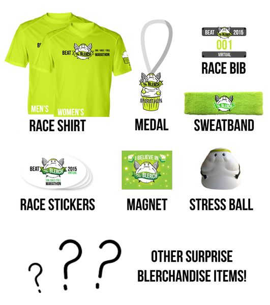 Beat The Blerch Virtual Race Kit 2015 - The Oatmeal.  Got me registered! Whoop!