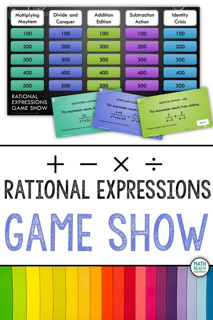 Simplifying Rational Expressions Game Show Activity Rational Expressions Simplifying Rational Expressions Simplifying Expressions