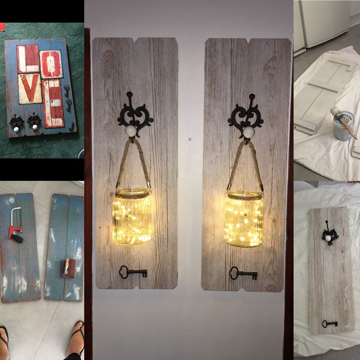 From a piece I found at a car boot to shabby chic lantern hooks.