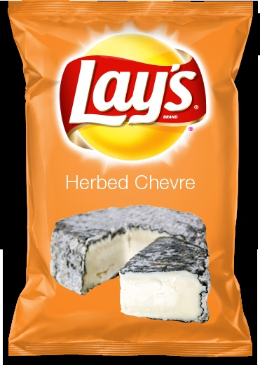 Vote for my Herbed Chevre entry in the Lay's flavor contest, please!