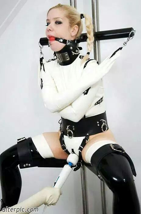 All dressed in white and no where to go…. bdsm master slave via pinterest