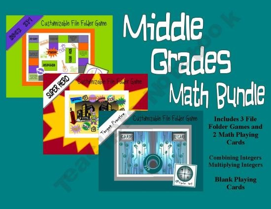 File Folder Games.  Graphics are middle schooler approved!  On sale, get 3 games for $4.00.  Comes with two integer games to play with any of the folder games.  http://the-tutor-house.com: Homeschool Ideas, Schools Ideas, File Folder Games, Homeschool Math, Middle Schooler, Classroom Ideas, Classroom Teacher, Cutsi Graphics, Classroom Games
