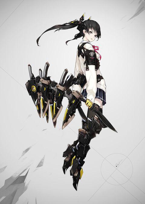 「重兵装型女子高生・伍」/「neco」[pixiv]