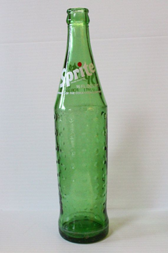 Sprite Glass Bottle Vintage Collectible Soda Bottle 16