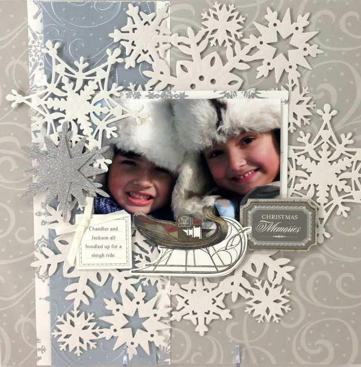 © Anna Griffin, Inc. Snowflake Die Cutting Dies. DD idea--add snowflakes to any…