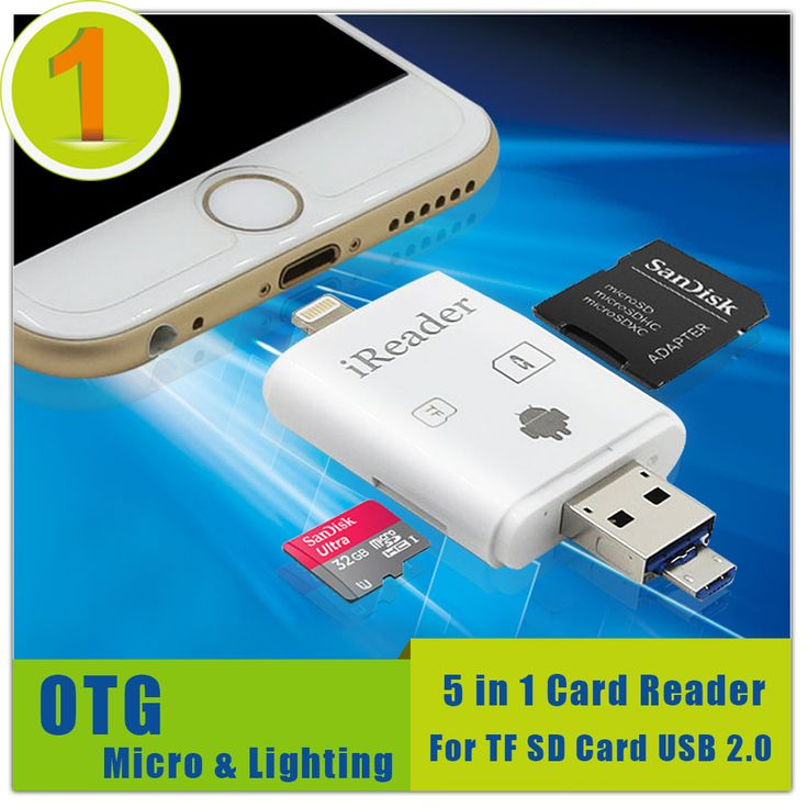 ALL in 1 OTG For Android Phone,Compatible Lighting Device,Data Transmission and Charging SD TF Card Reader For iphone Samsung