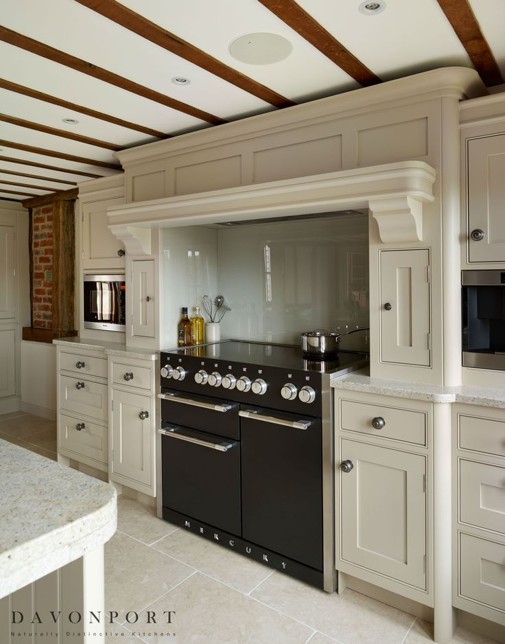 Incorporating modern appliances without sacrificing the traditional feel was important to the design. Miele appliances including a combi microwave, larder fridge and a slimline dishwasher were all integrated into the design, concealed in order to maintain the traditional design. The Mercury range cooker built into the inglenook fireplace added to the traditional atmosphere of the room.