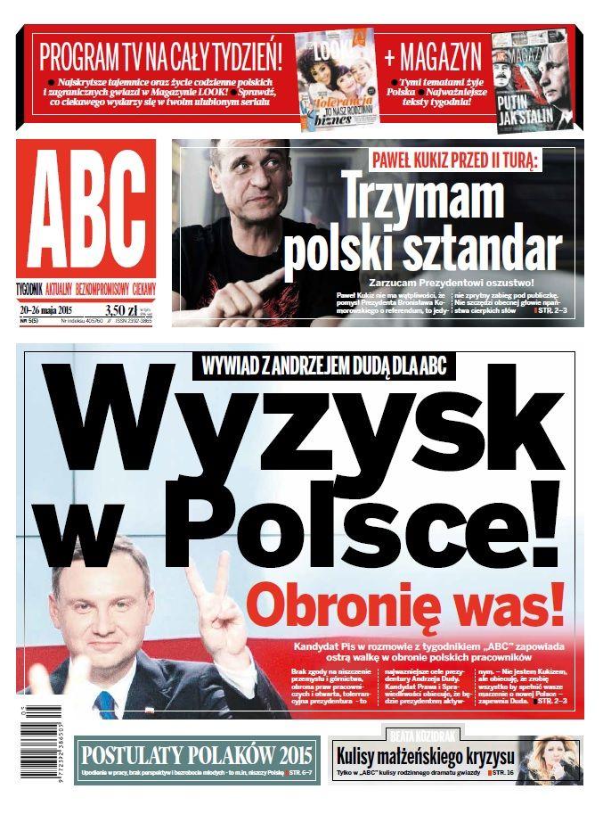 ABC nr 5/5 cover Wyzysk w Polsce Duda, Kukiz Trzymam polski sztandar
