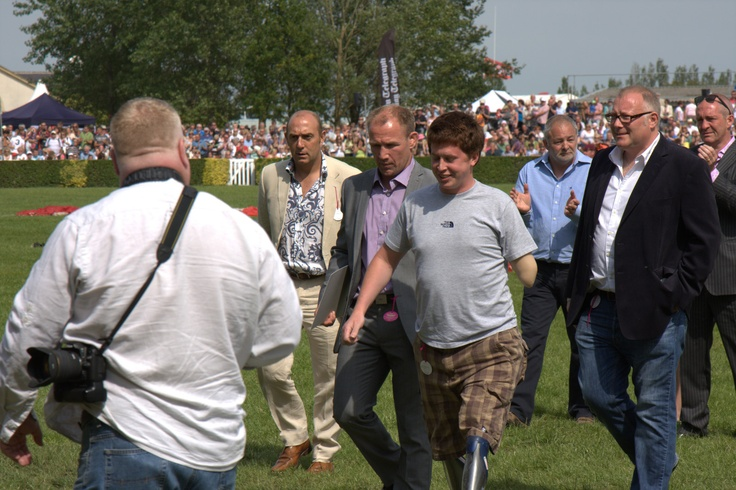 With Injured War Hero Tom Neathway - Great Yorkshire Show