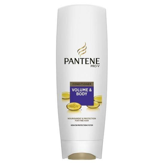Pantene Pro-V Volume & Body conditioner, specially designed for fine hair, contains micro-boosters and fortifies your hair, for a healthy look. #hair #haircare #grooming