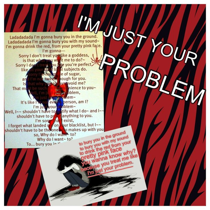 Marceline's song 'I'm just your problem' lyrics. The second pic's lyrics i made up for the ending since Marcy got distracted and didn't finish so those are ALL ME :)