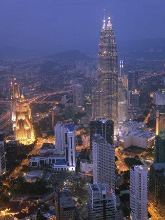 Petronas Twin Towers from KL Tower, Kuala Lumpur, Malaysia