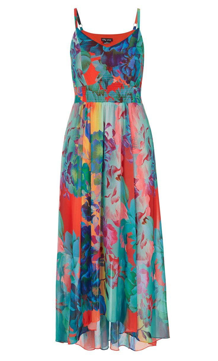 City Chic - HOT SUMMER DAYS MAXI DRESS - Women's Plus Size Fashion