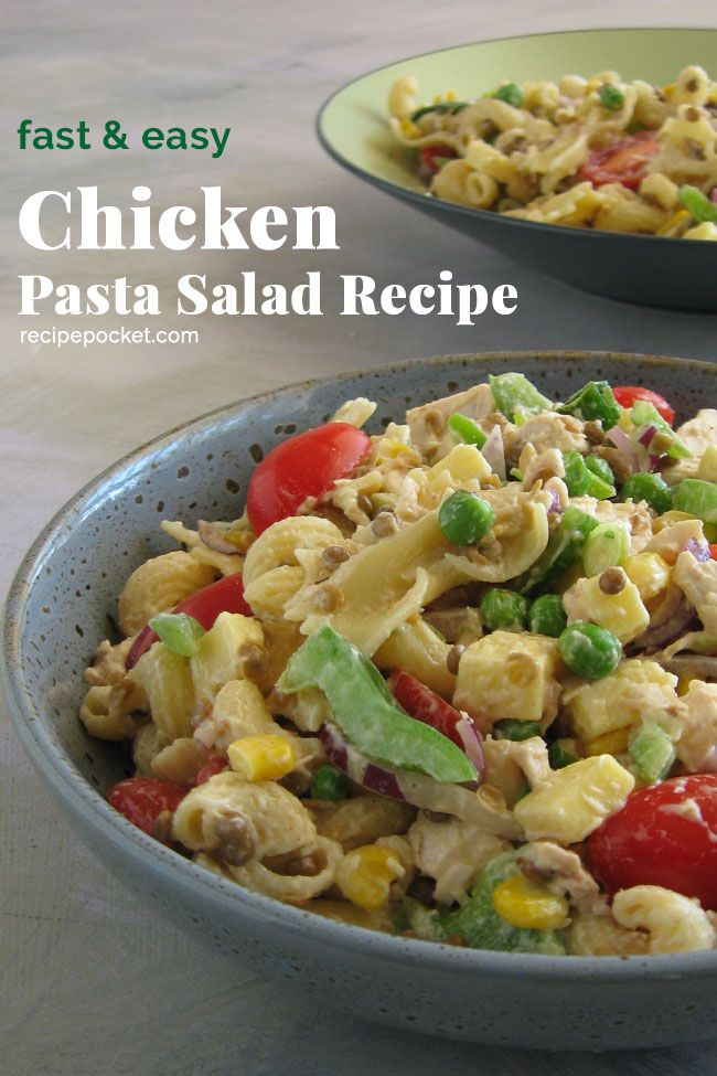 Cold Pasta Salad With Chicken