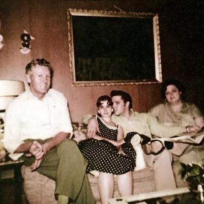 """""""Sitting just a few rows from the stage that night (Russwood) was another young girl with stars in her eyes, this one just at the beginning of her relationship with Elvis. Jackie Rowland, the 190-pound """"blueberry"""" from the Jacksonville, Fl, show, had made good on her promise to lose weight, and even though """"my mother kept me almost in a bubble,"""" Marguerite had held up her end of the bargain, too, bringing Jackie, now fourteen years  old and eighty pounds lighter, to Memphis."""" July 1956"""