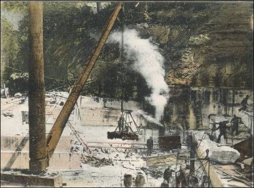 Vermont Danby Marble : Images about quarries quarry men stone splitters on