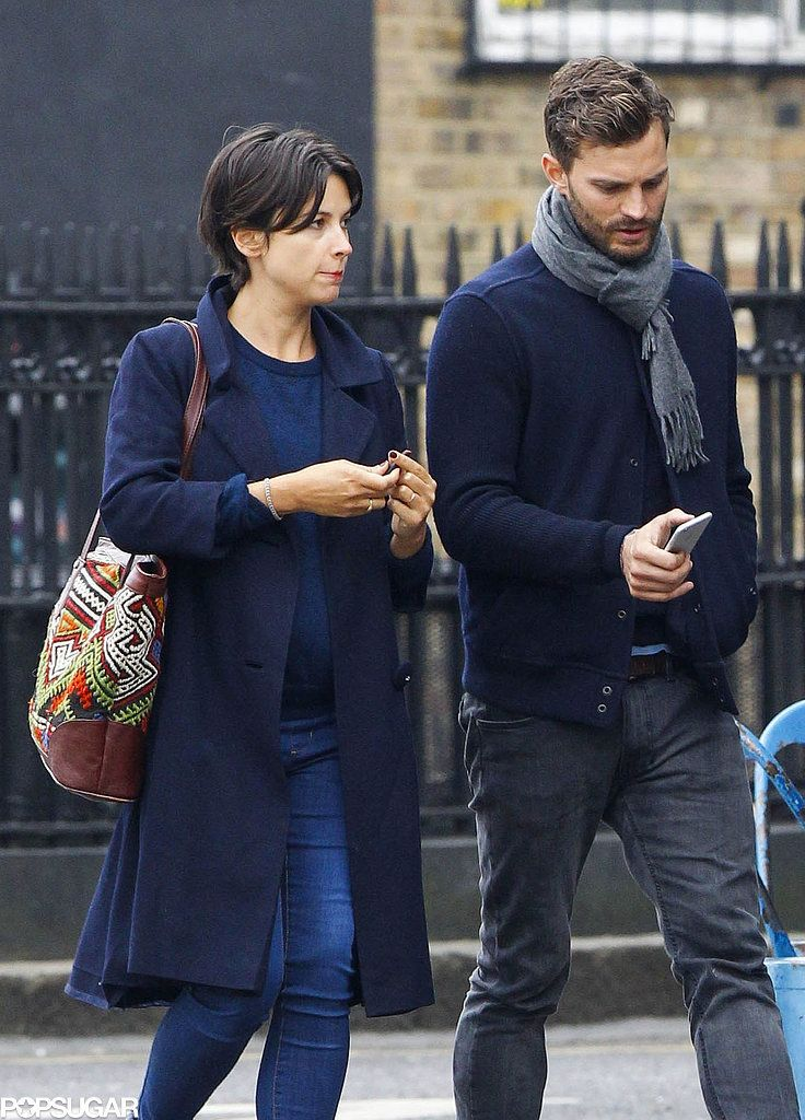 Jamie Dornan and His Wife Keep Close During an Afternoon Stroll