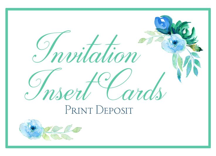 Custom Wedding Invitation Insert Card Print Deposit - Wedding Reception Insert Card - Accommodation Card - Honeymoon Fund - Directions Card by PaintTheDayDesigns on Etsy