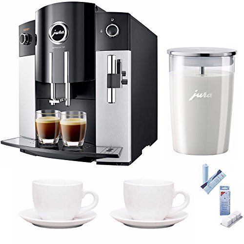 Jura IMPRESSA C65 Automatic Coffee Machine + Jura Milk Container, Decalcifying Tablets and More...