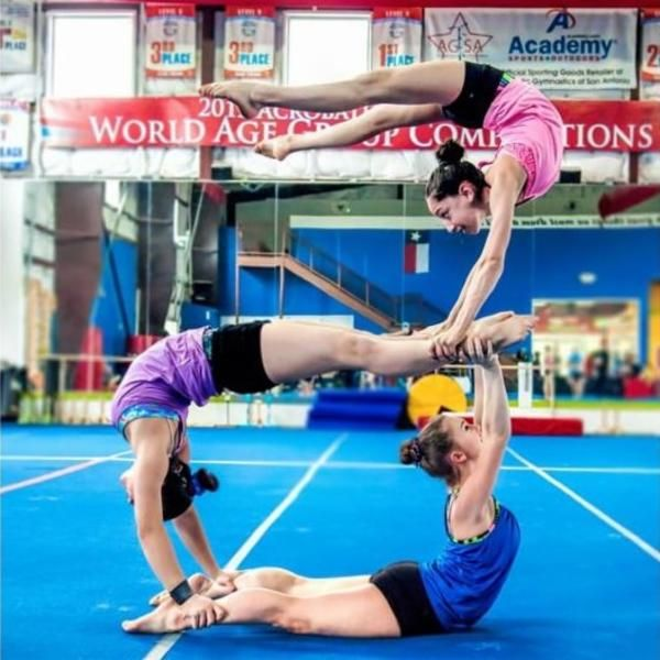 teamwork makes the dream work. ivivva San Antonio credit: Instagram @bluesky_photo | gymnastics