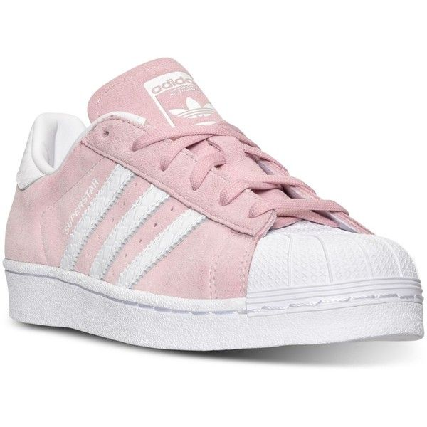 adidas Women's Superstar Casual Sneakers from Finish Line (1,665 MXN) ❤ liked on Polyvore featuring shoes, sneakers, adidas, rubber shoes, retro shoes, adidas footwear and low profile shoes