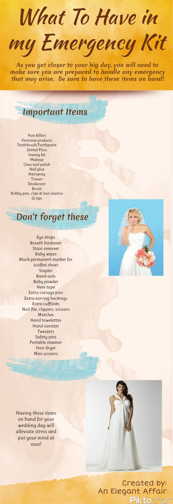 What should you include in your #wedding day emergency kit