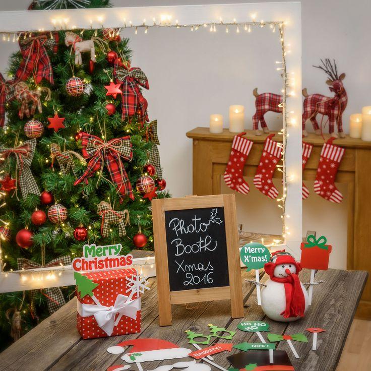 Photo booth natalizio Fai-da-te per una foto di Natale memorabile