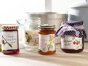Etiketten für Marmelade zum Ausdrucken
