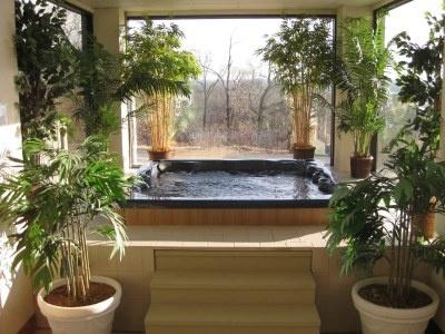 28 best indoor hot tubs images on pinterest indoor hot for Indoor jacuzzi design