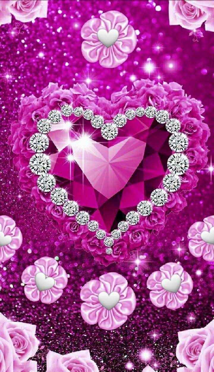 Ezt Keret Szeretnem Pink Glitter Wallpaper Iphone Background Glitter Heart Iphone Wallpaper Glitter pink love wallpaper