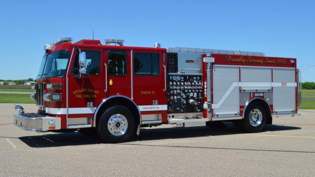 Stuarts Draft Va Vol Fire Co Gets Unique Custom Pumper Pumper Rescue Setcom Fire Firedept Apparatus Firefighting Ne Fire Trucks Fire Apparatus Fire