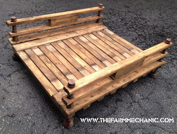 Industrial Rustic Dog Bed Futon - XL by TheFarmMechanic on Etsy https://www.etsy.com/listing/510480794/industrial-rustic-dog-bed-futon-xl