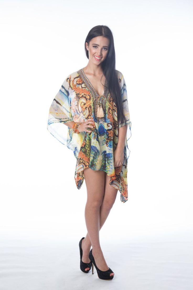 Shop the amazing Embellished Kaftan Australian Designer MK330 Gold Short Mini Kaftan online now, get FREE shipping on all orders over $100 in Australia. Pay via AfterPay & ZipPay. We ship WORLDWIDE! #ootd #afterpay #style #weshipworldwide #polipay #onlineboutique #onlinestore #onehoney #aussieboutique #celebfashion #celebstyle #zippay #clothingboutique #onehoneyboutique #getthelookforless  https://goo.gl/55AZRK