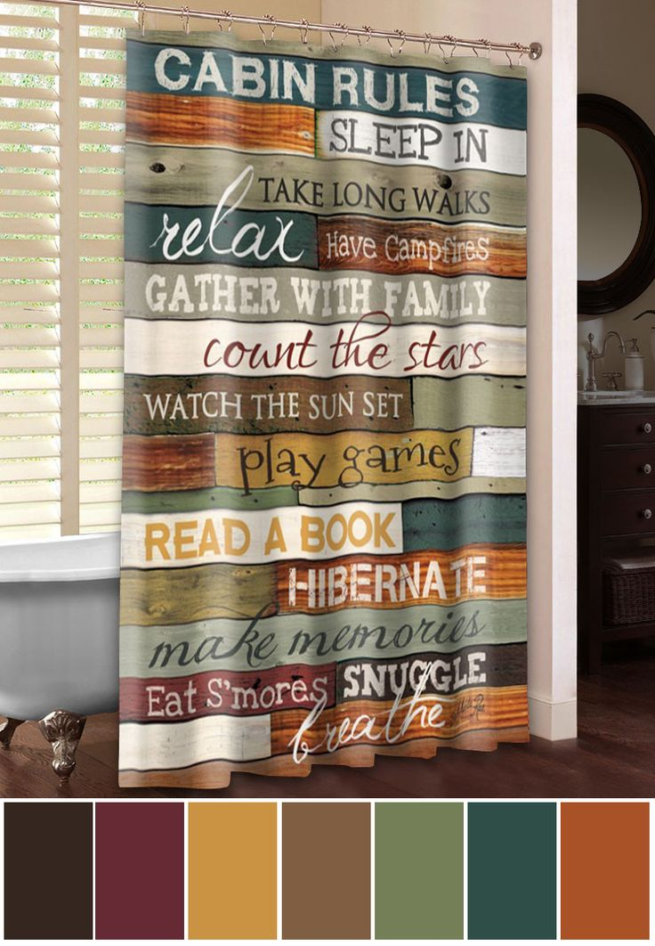 A set of rules you won't mind following! Add some fun to your decor with this modern take on cabin color schemes. http://bit.ly/1vGaSGd