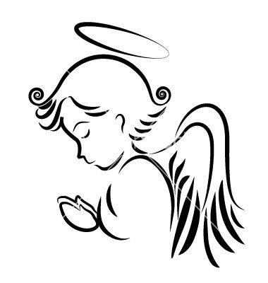 Angel praying logo vector 1222245 - by Glopphy on VectorStock®